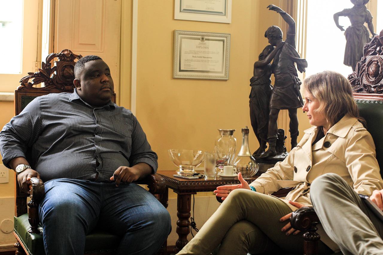 Paula se reúne com vereador Rafael Dutra