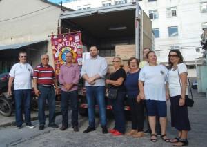 AJUDA PARA A SANTA CASA : LIONS PELOTAS LARANJAL ENTREGA UMA TONELADA DE ALIMENTOS