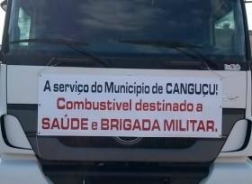 Canguçu recebe caminhão de combustível para manter serviços de saúde e segurança