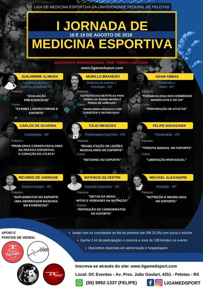 Jornada de Medicina Esportiva - MedSport - UFPel 2018