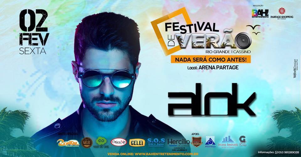 Alok - Festival de Verão Rio Grande-Cassino 2018