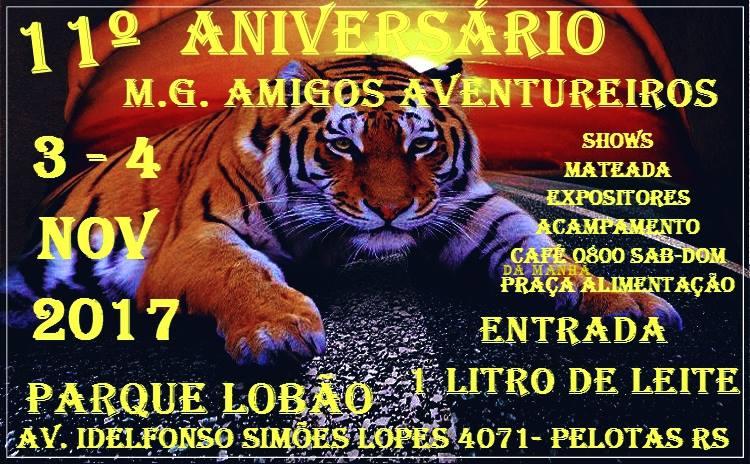 11 Aniversário M.G. Amigos Aventureiros