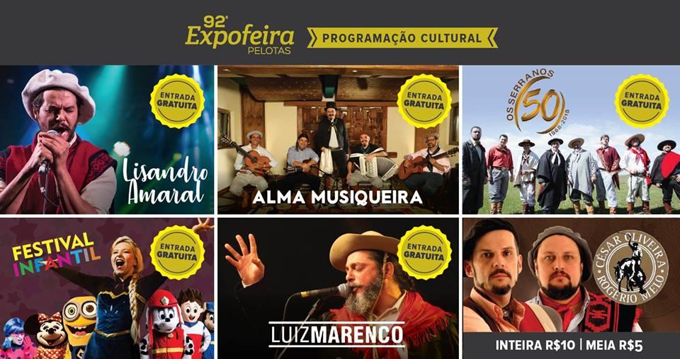 92 Expofeira Pelotas - Programação Cultural